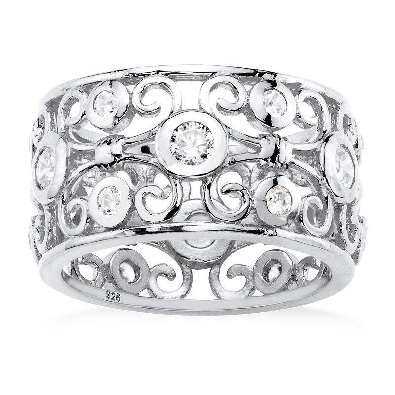 ebdf9ec98 Diamonart Womens 1 CT. T.W. White Cubic Zirconia Sterling Silver ...