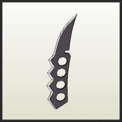 naruto asuma sarutobis chakra blade free papercraft