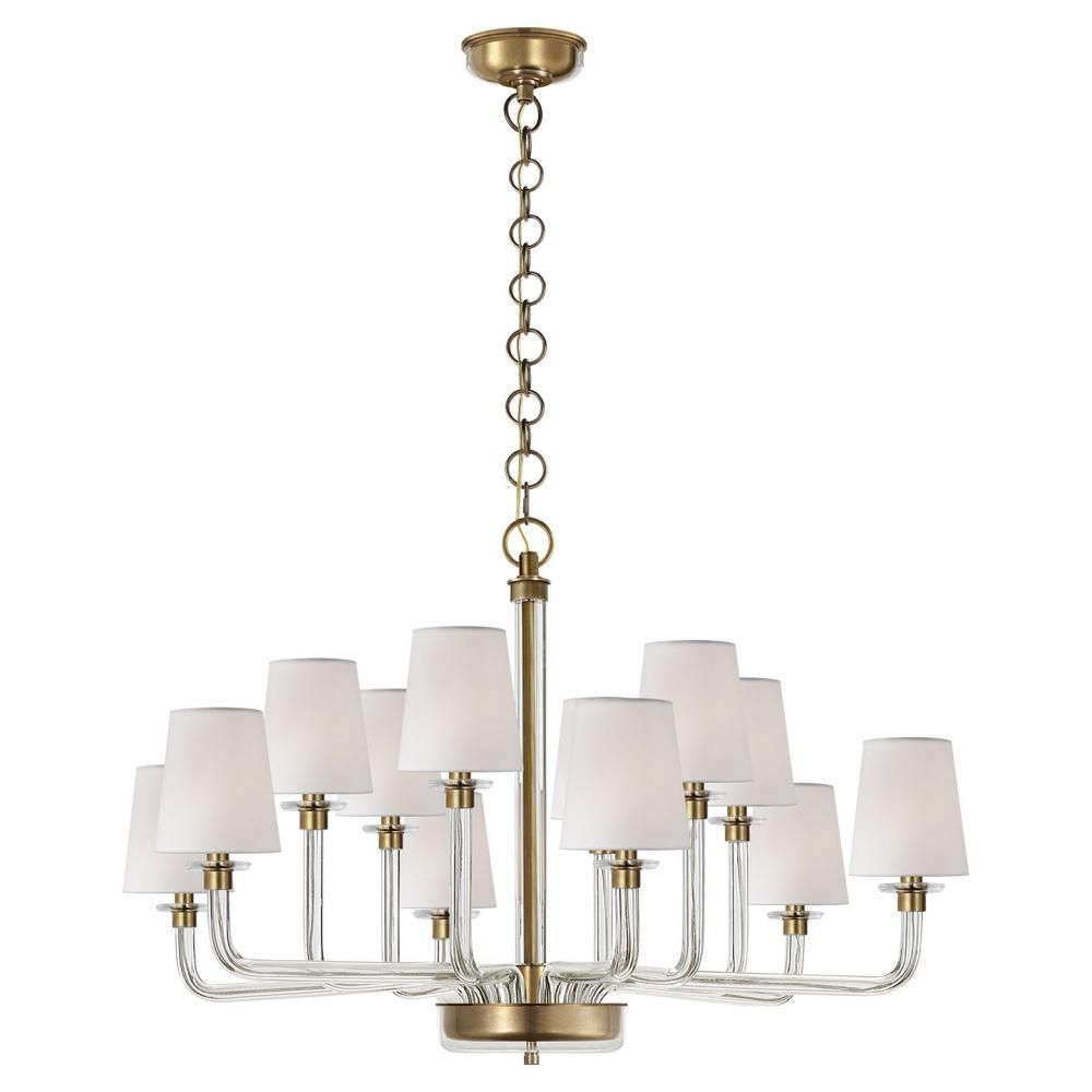 Visual Comfort Rl5247cg Nbs Parker Large Chandelier In Natural