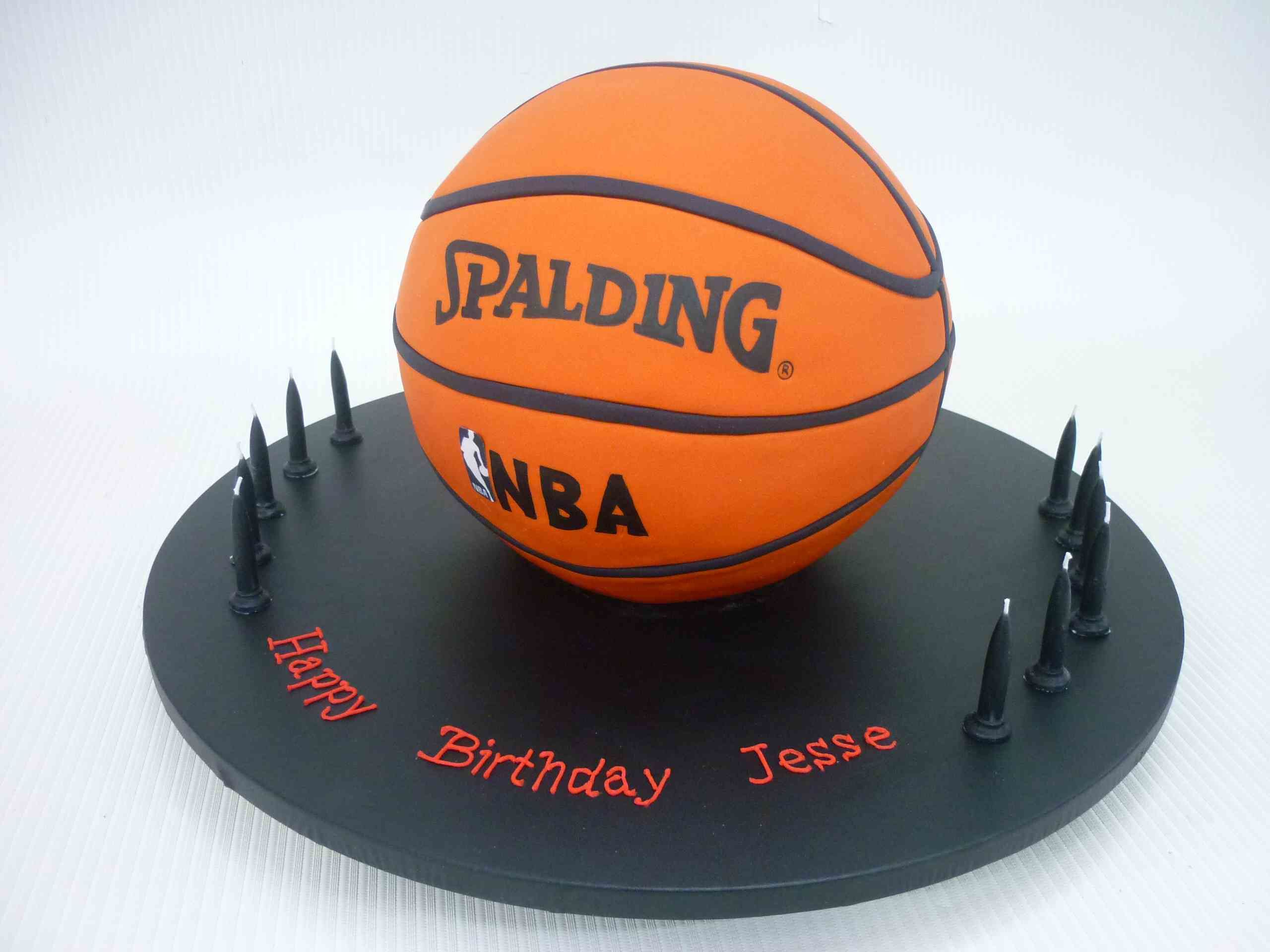 Basketball Themed Cake Idea