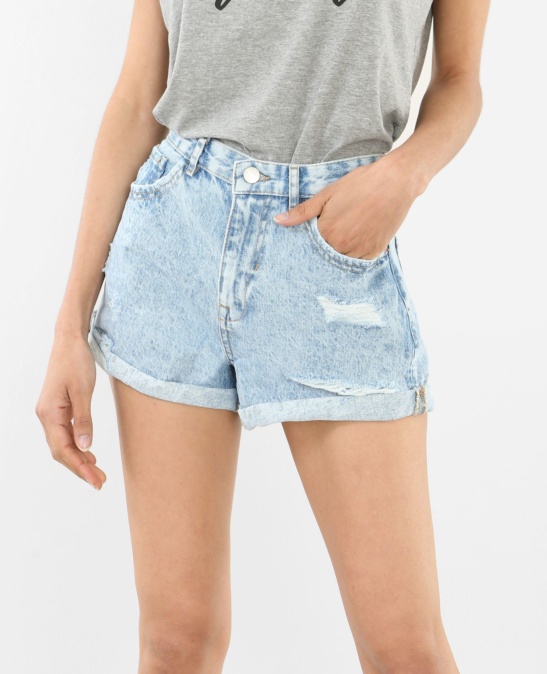 Short en jean délavé - Vous cherchiez un