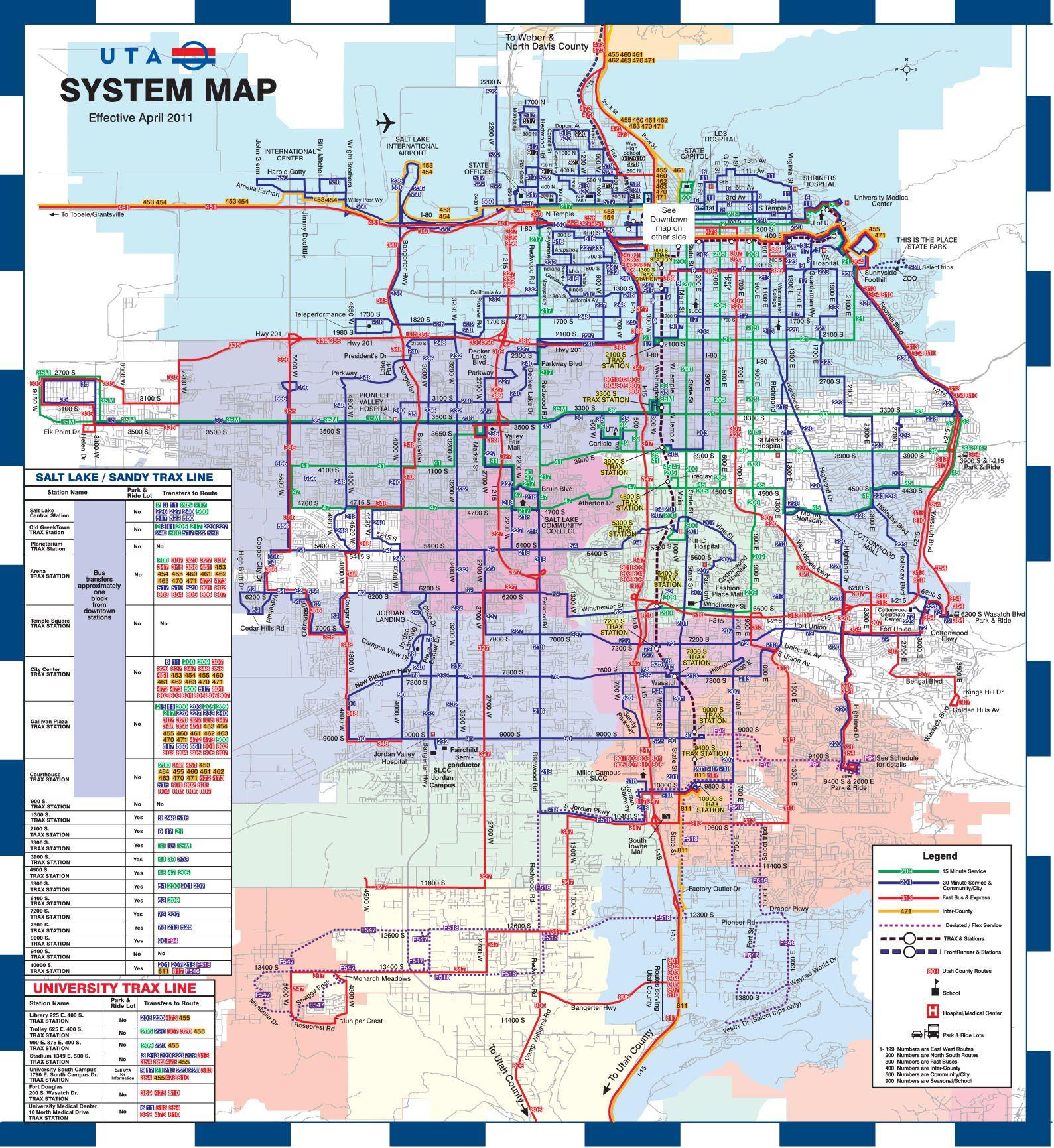 Utah Transit authority map for Salt Lake County #travel #utah ...