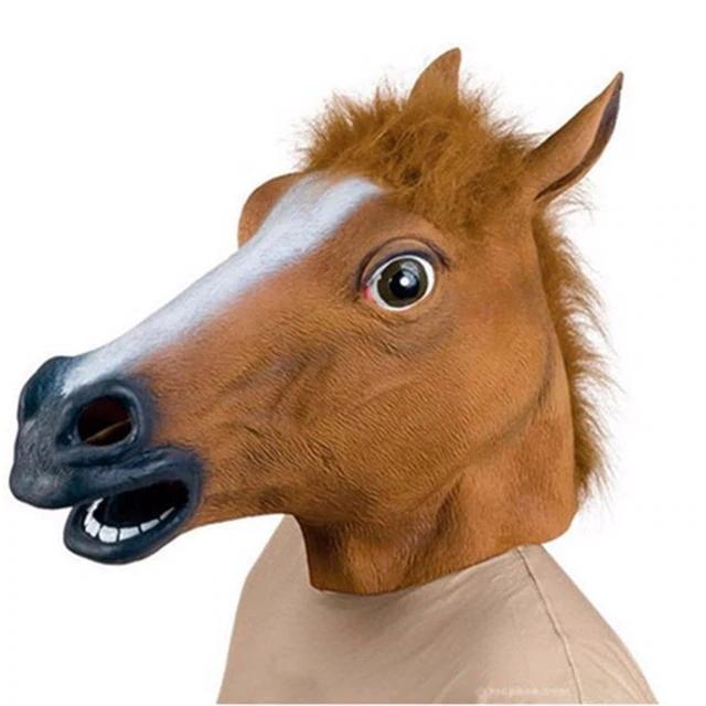 Horsing Around Trot Gallop Or Jump With This Fabulous Horse Mask Mascara De Cavalo Cabeca De Cavalo Fantasias De Cavalo