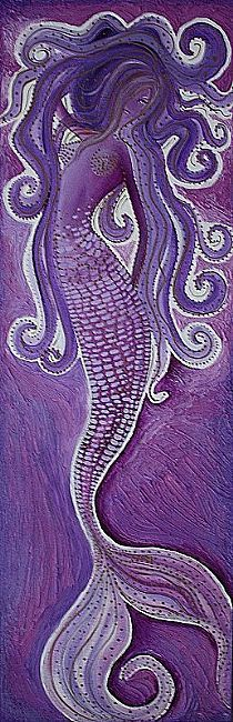Purple Mermaid by Laura Barbosa, 6th piece for Sea Creatures Set.