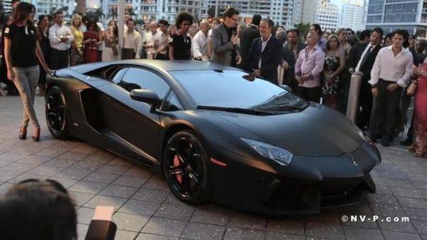 Click the photo! - Flat black Lambo..yep, Id drive it :) lilacfaery