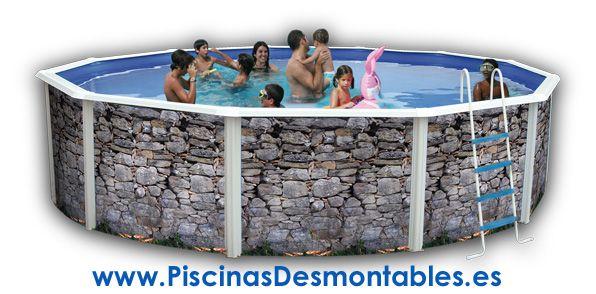 Las piscinas desmontables toi de imitaci n a piedra parece for Piscinas desmontables toi