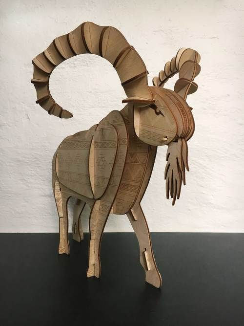 Aztec inspired Mountain Goat built with parts made from ...