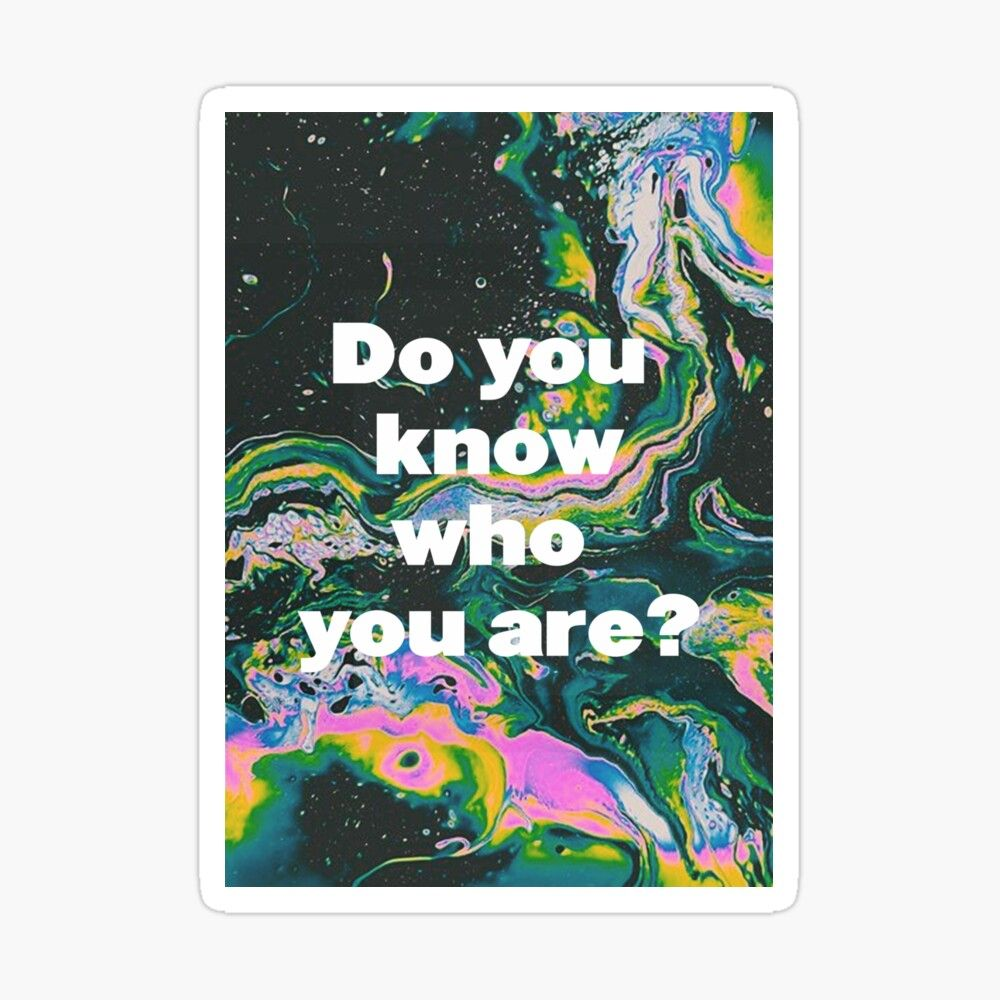 Do You Know Who You Are Sticker By Graph Jv In 2021 Harry Styles Poster Know Who You Are Did You Know
