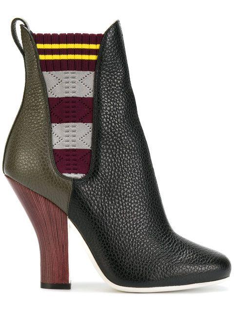72596cb5fc4971 Shop Fendi colour-block boots