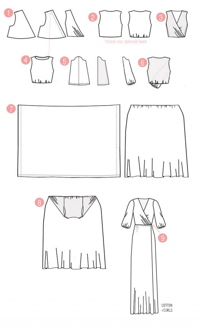 Patrones maxidress | costura | Pinterest | Maxidress, Patrones y Costura