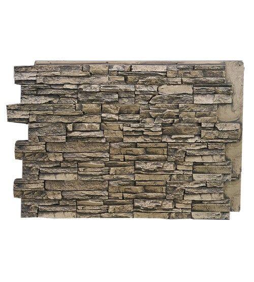 139 36 Mocha Deep Stacked Stone Design Wall Panel 48 W X 36 H X 1 D Faux Stone Walls Faux Stone Panels Stone Panels