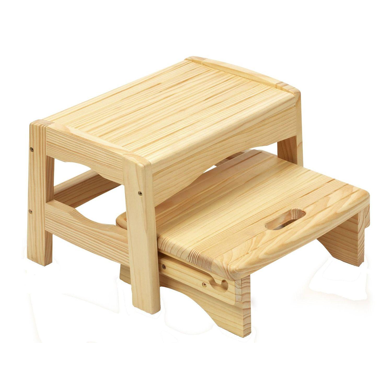 Safety 1st Wooden 2 Step Stool Kiddicare.com