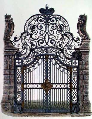 This beautiful wrought iron gate would be just perfect for the main entrance to my Mansion...;-)