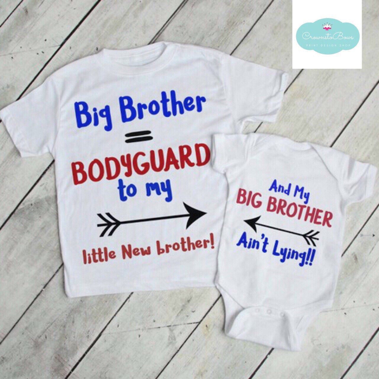 3d0d19382 Pin by BabyGlitzz on CrownstoBows! | Big brother tshirt, Big brother ...