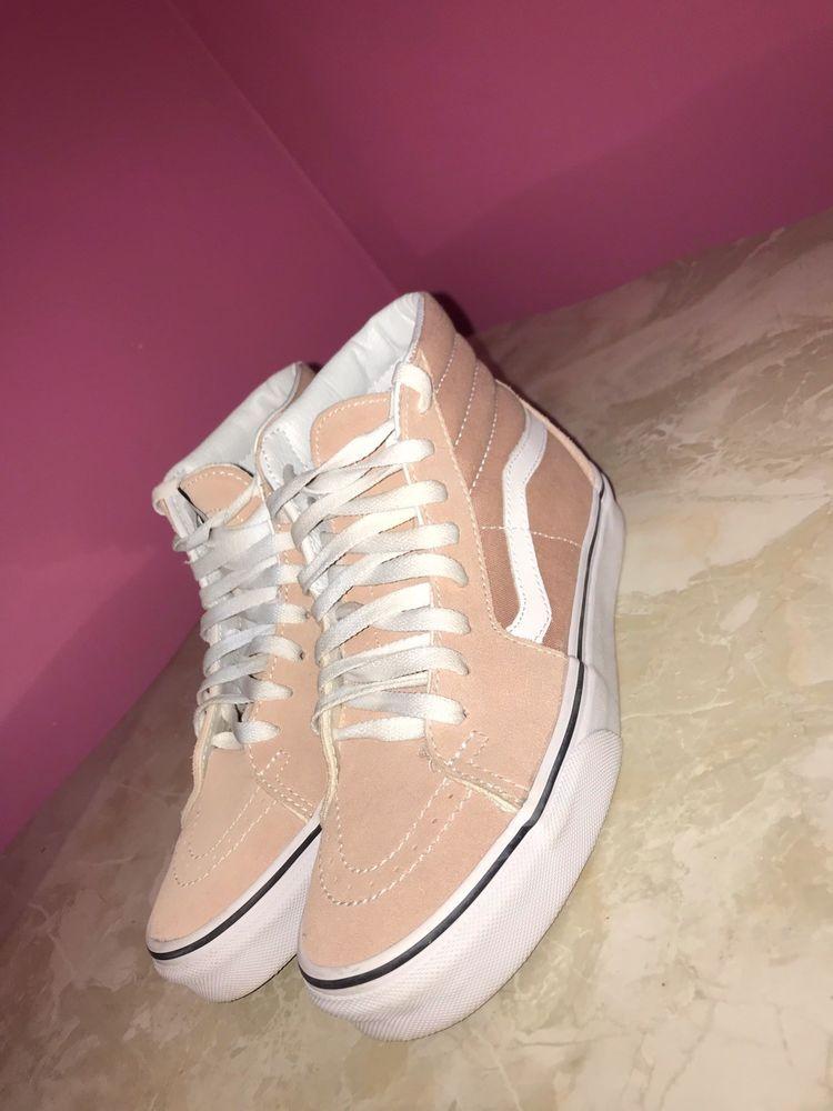d0d06e30cd4 Vans Sk8-Hi Mahogany Rose   White Skate Shoes (Women 6.5 Men 5.0)  fashion   clothing  shoes  accessories  womensshoes  athleticshoes (ebay link)
