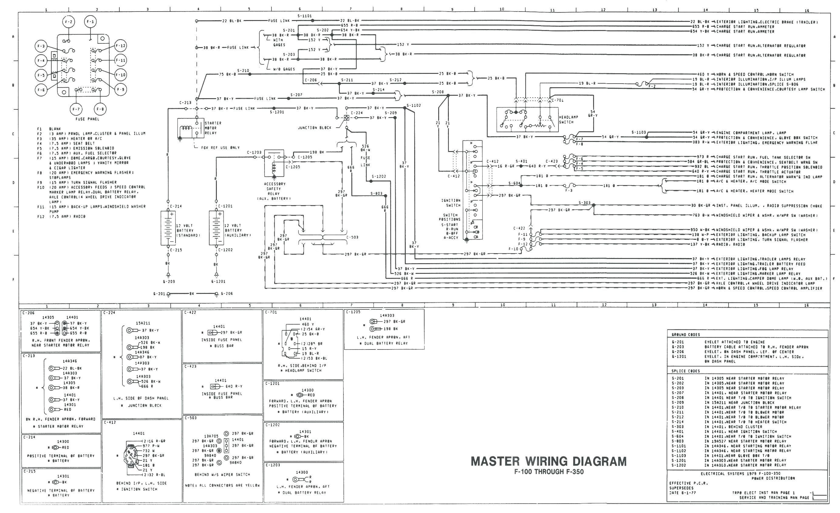 79 F250 Headlight Switch Wiring Diagram