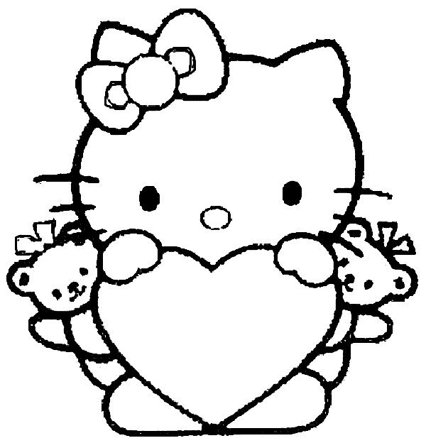 Valentine Hello Kitty With Heart Valentines Day Pinterest