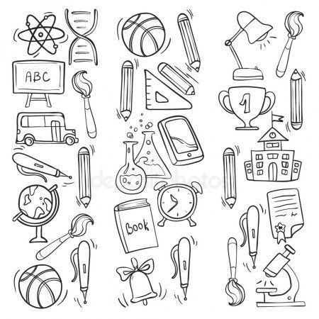 Vector doodle icons and pattern for back to school posters
