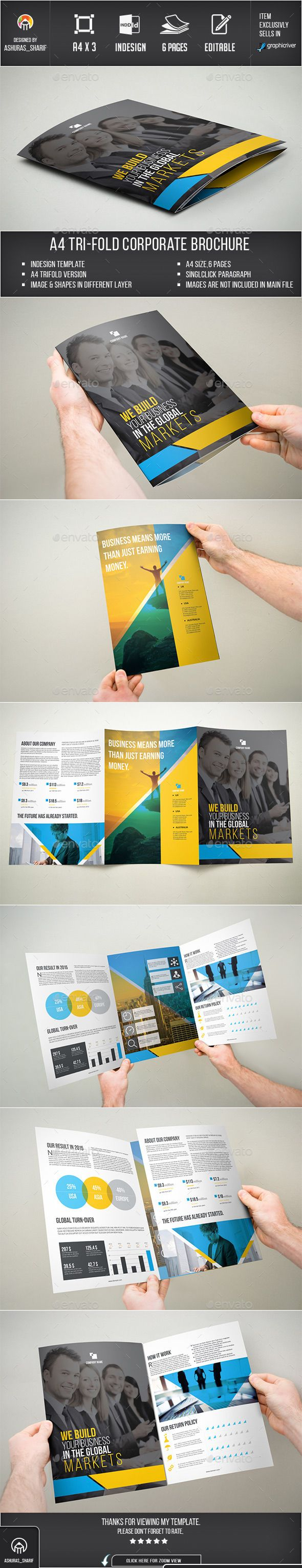 trifold brochure corporate brochures easy customization and