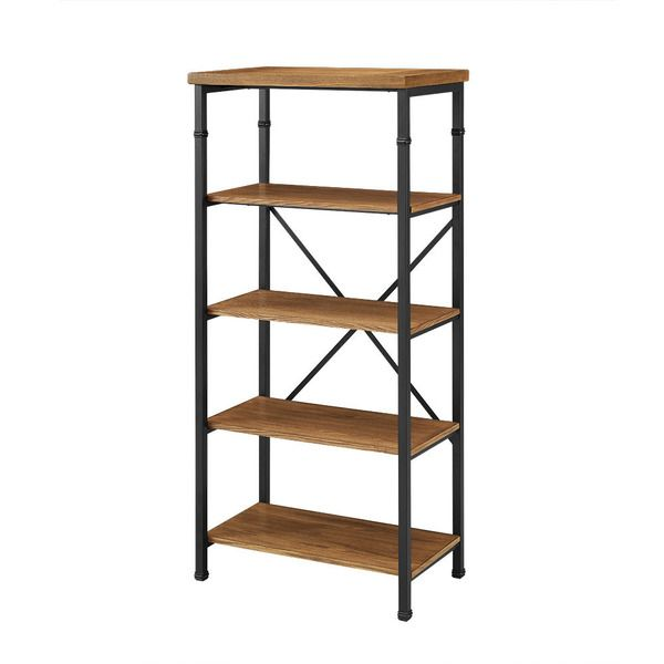 With a rustic industrial design the Tara bookcase will make a