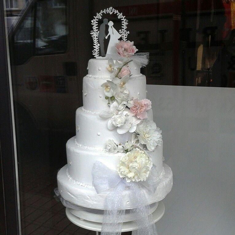 Wedding Cake Bruxelles Blanc Rose Tendresse Gâteaux