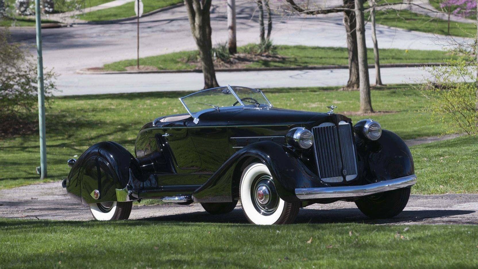 1936 Packard Twelve Speedster. Classic cars vintage