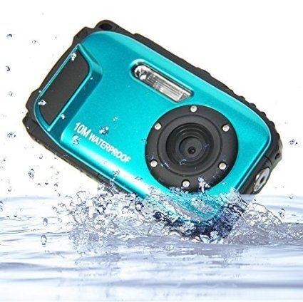 """GooDee Waterproof Diving Digital Camera Blue (16MP, 8x Zoom, CMOS Sensor, 2.7"""" LCD, 10m waterproof)"""
