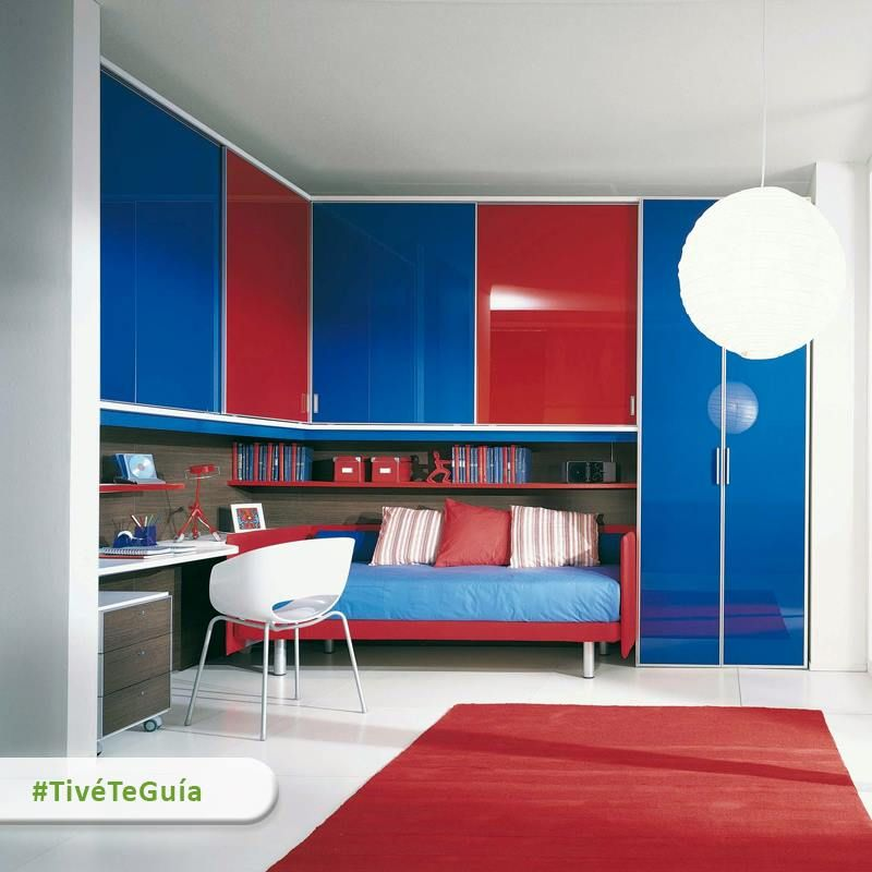 Bedroom Colors For Kids With Awesome Masculine Red Rug And Blue Cabinet Design Guys Rooms