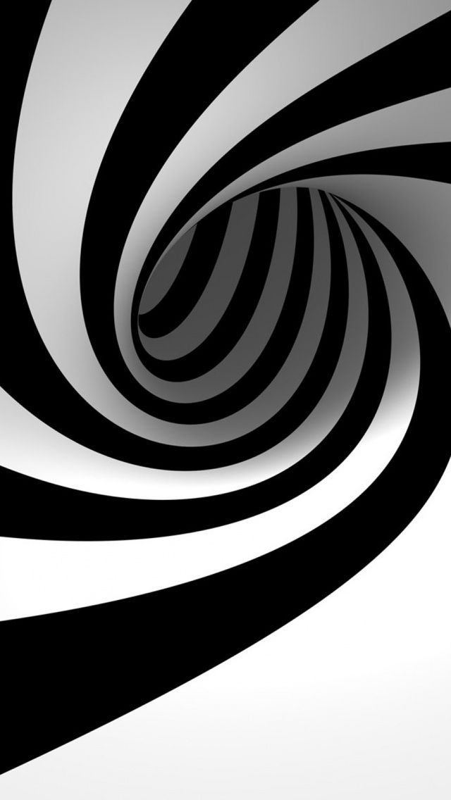 Abstract 3D Wormhole Illustration IPhone 5 Wallpaper