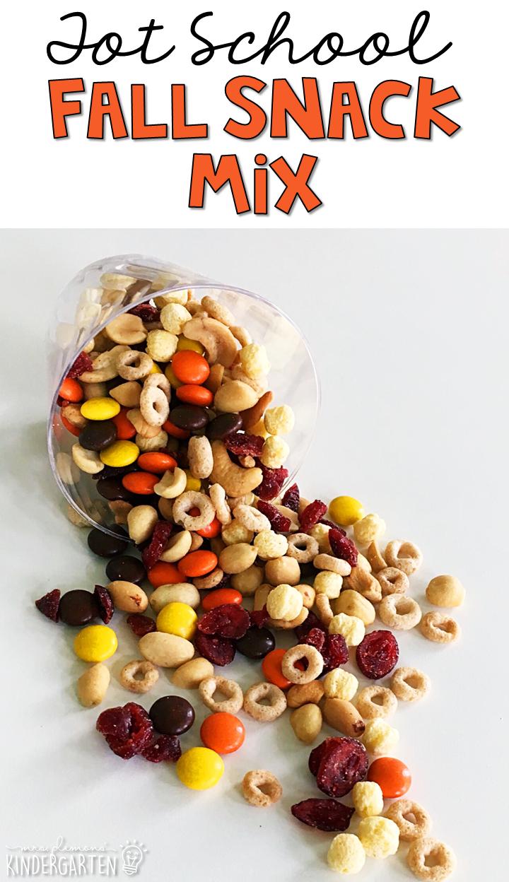Tot School Fall Fall snacks, Fall snack mixes