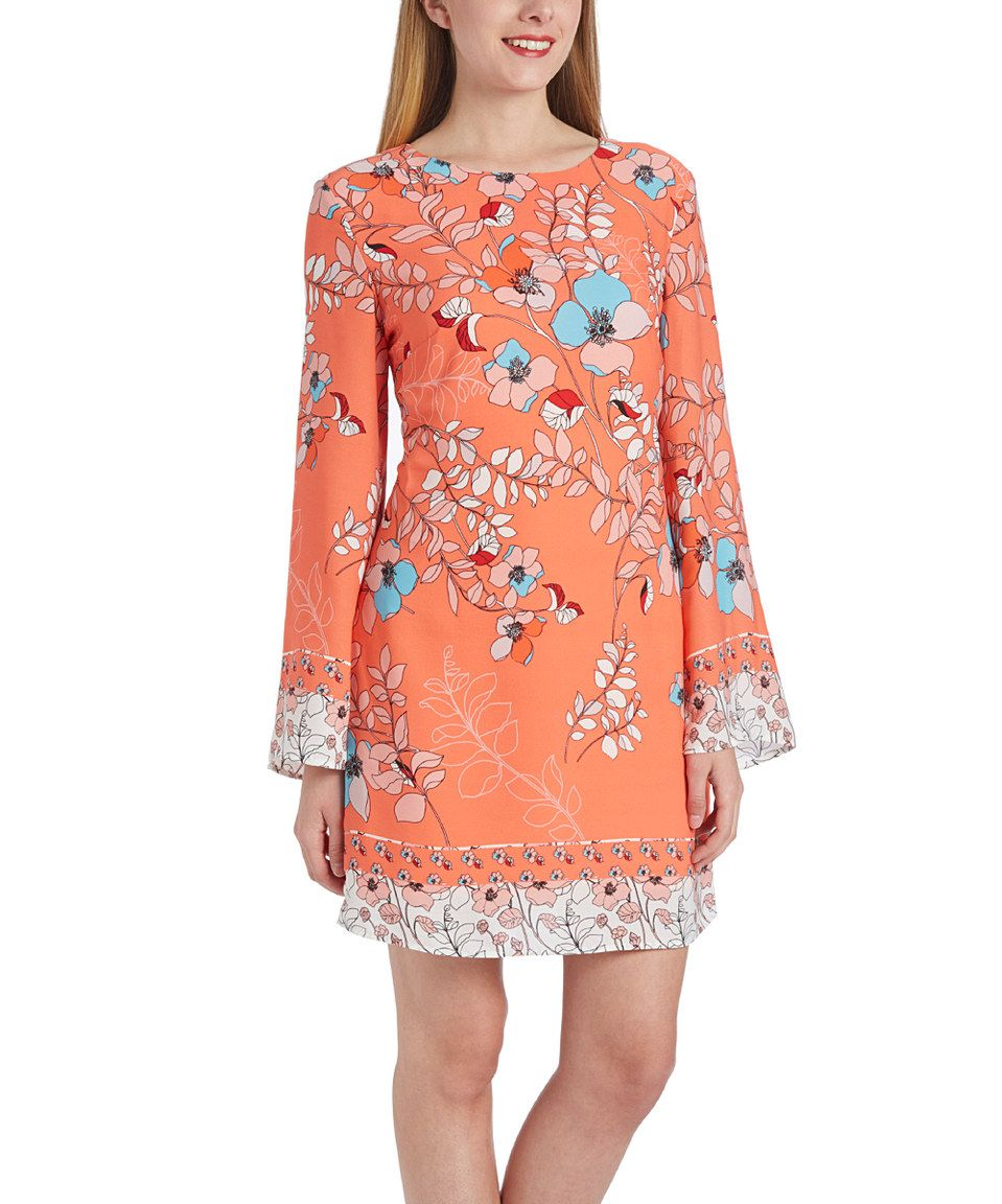 Another great find on zulily coral floral longsleeve cutout