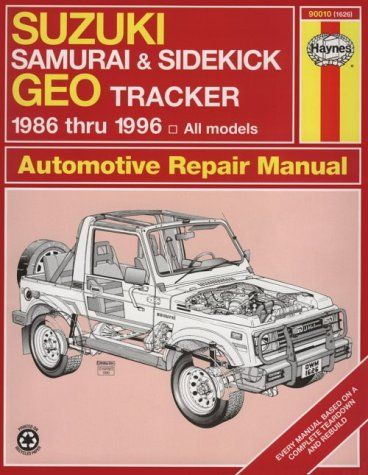 suzuki samurai sidekick geo tracker 1986 thru 1996 all models rh pinterest com 1988 Suzuki Samurai Parts 1988 Suzuki Samurai JX 4x4