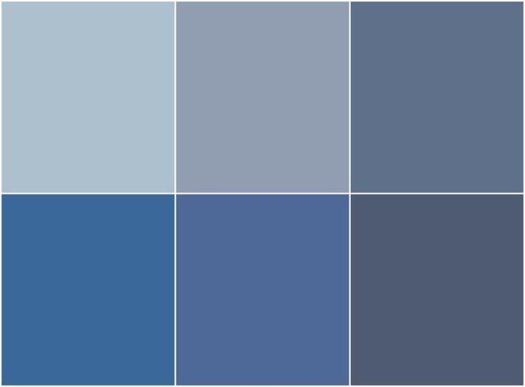 Déco Salon – Peinture bleu gris à l\'intérieur- le bleu pigeon et le ...