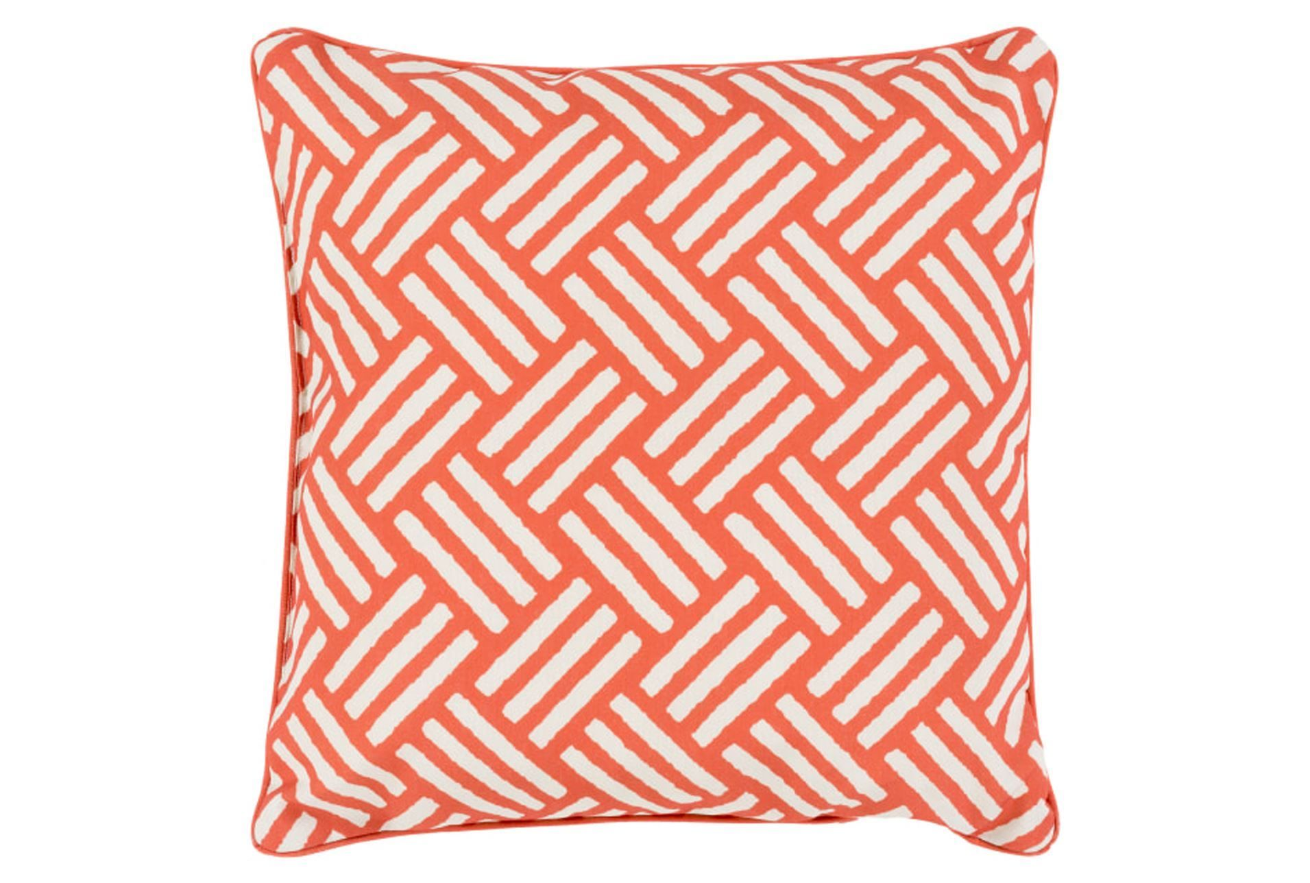 Accent Pillow Crossweave Geo Rust Ivory 20x20 In 2020 Geometric Throw Pillows Throw Pillows Outdoor Throw Pillows
