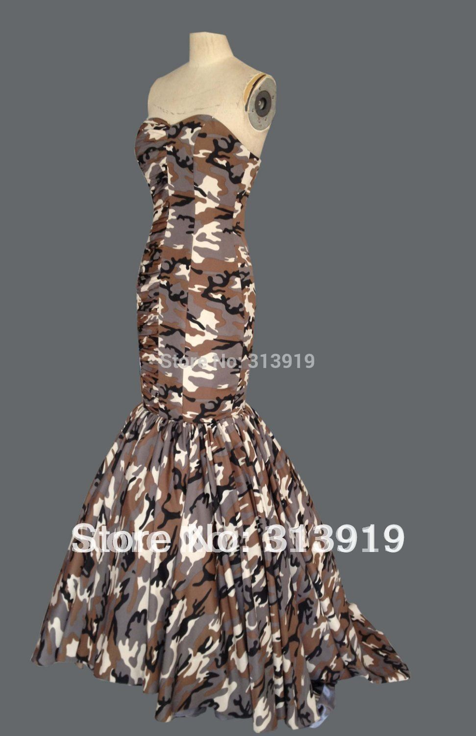 Click to buy ucuc sweetheart mermaid camo prom dress party