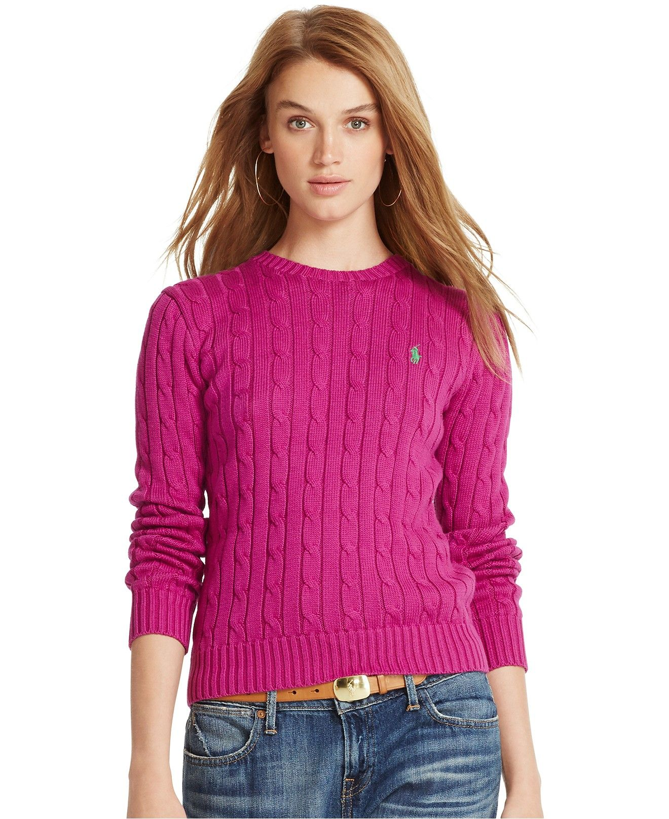 3234970aa Polo Ralph Lauren Cable-Knit Crew-Neck Sweater - Polo Ralph Lauren ...