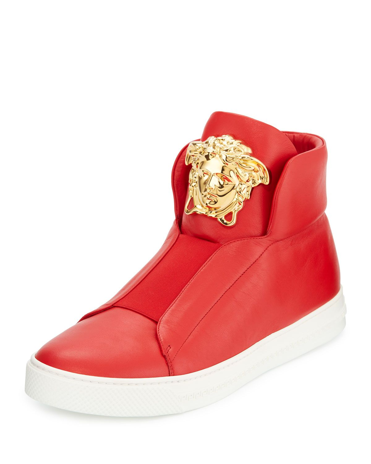 614e982f10 Palazzo Idol Leather High-Top Sneaker Red | *Apparel & Accessories ...