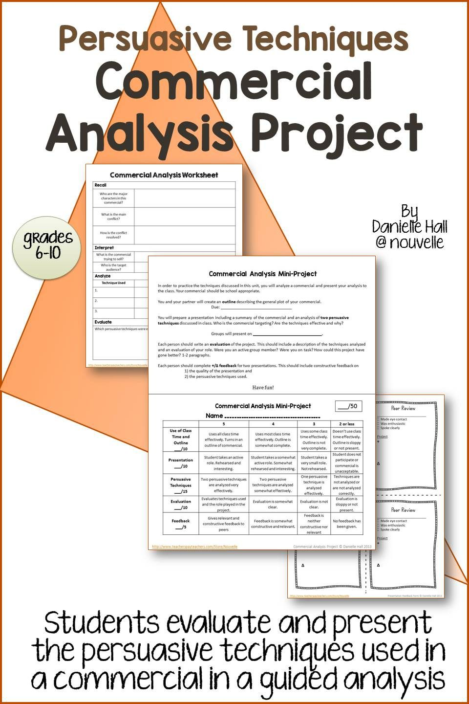 worksheet Persuasive Techniques Worksheet persuasive techniques commercial analysis project what project