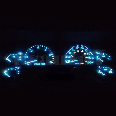 Dash Cluster Gauge Aqua Ice Blue Led Light Bulbs Kit Fits 97 01 Jeep Cherokee Xj Jeep Cherokee Jeep Cherokee Xj Blue Jeep