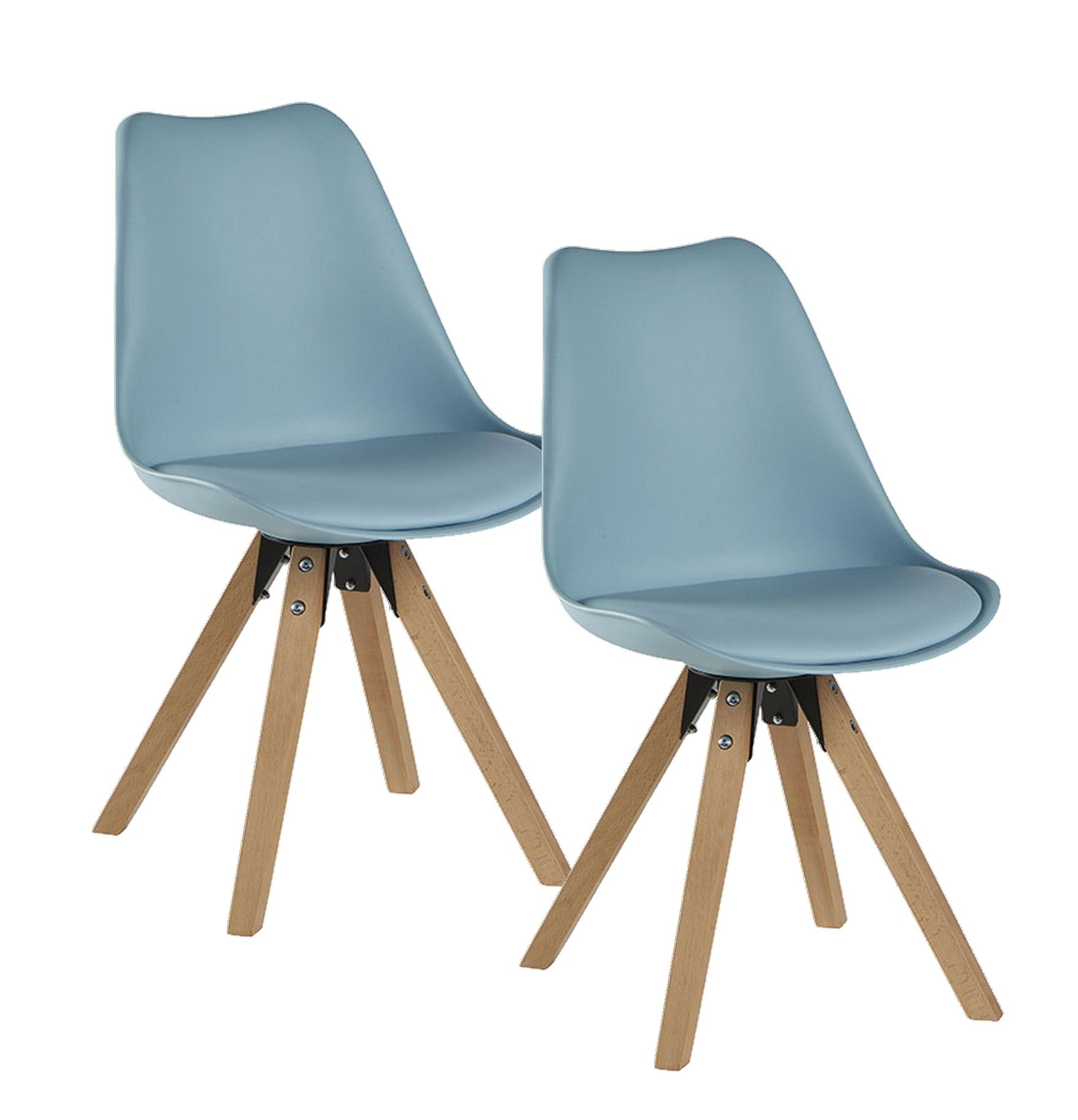 Chaise Scandinave Rembourrée Chaise Scandinave Bleue Tony Lot De 2 En 2019 Chaises Et Bancs