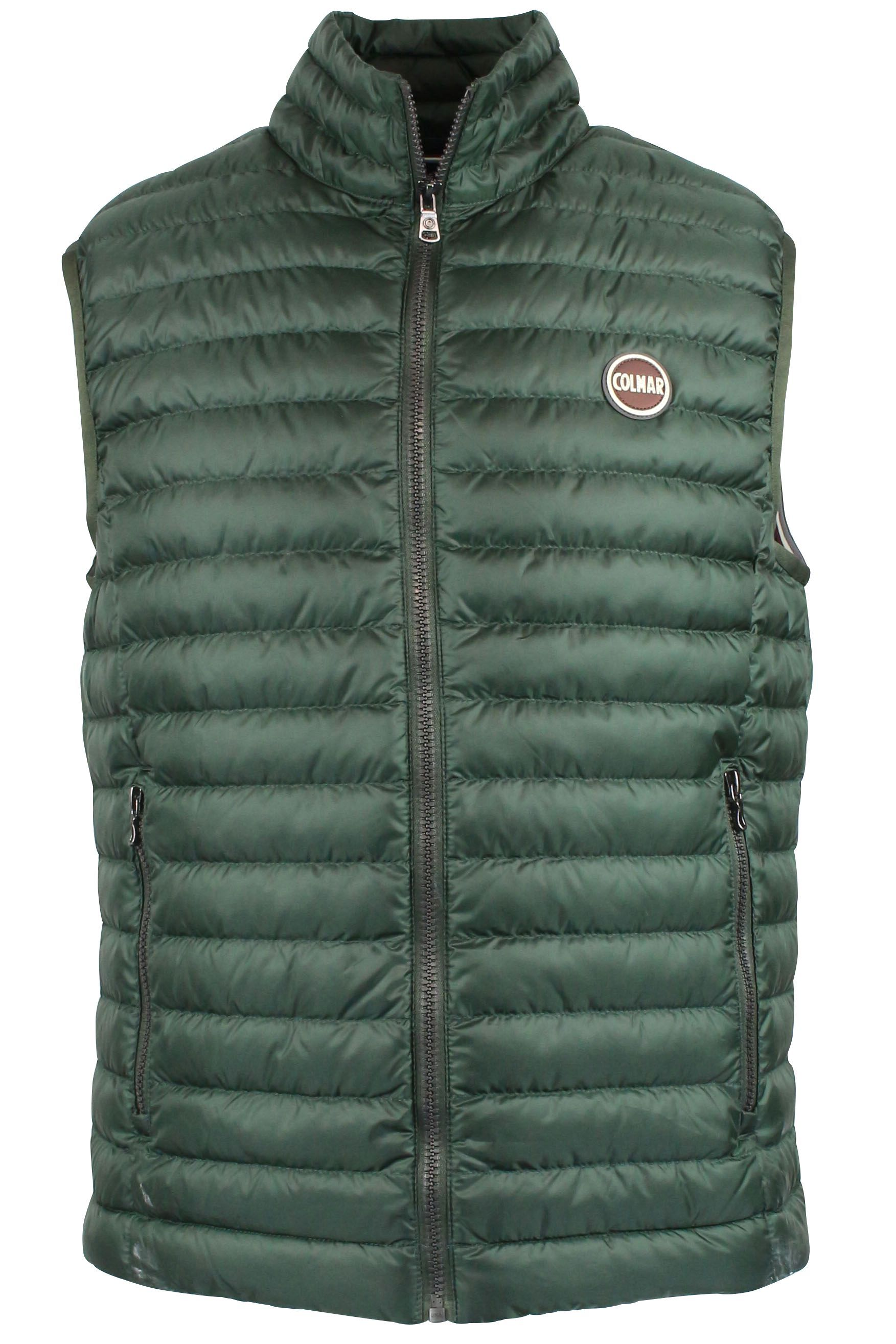 COLMAR ORIGINALS MEN'S 1278R1MQ382 GREEN POLYAMIDE VEST