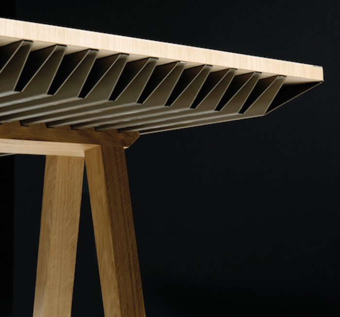 Thermal sponge table designed to save energy Table