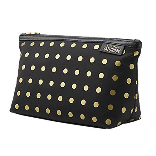 efcbcd8bc8 Kate Spade Saturday Black with Gold Dots Cosmetic and Toiletry Bag -- Learn  more by visiting the image link. (Note:Amazon affiliate link)  #TravelAccessories