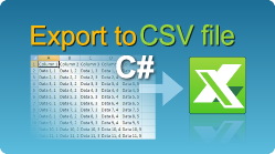 Export data to CSV file in C# NET from ASP NET web pages