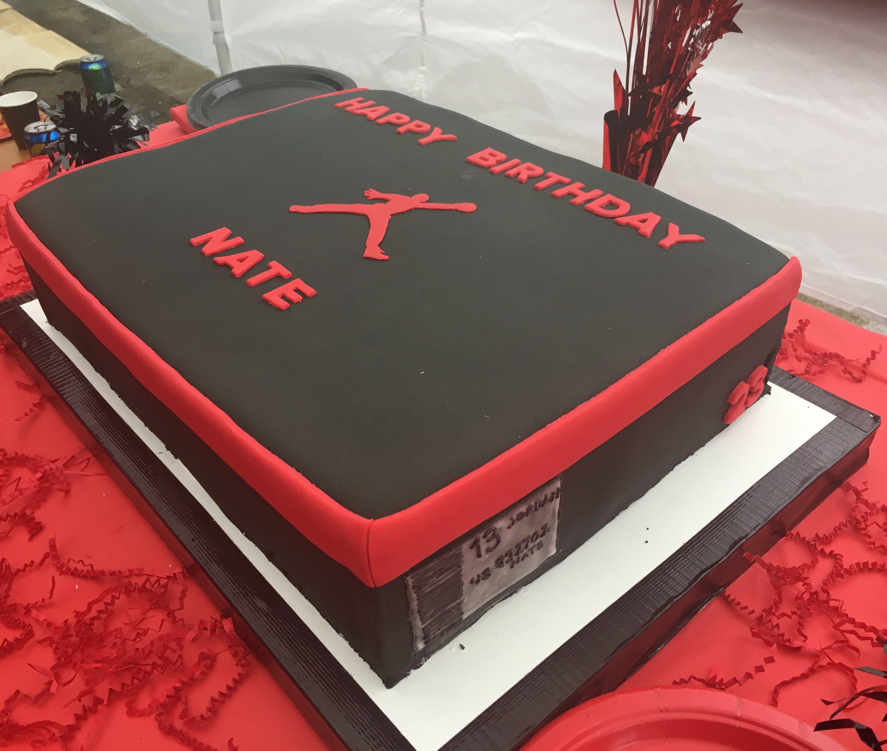 Jordan sneaker box cake with images cake creations