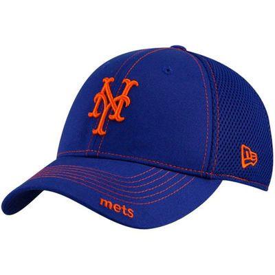 New Era New York Mets Royal Blue Neo 39THIRTY Stretch Fit Hat  0ca6bff36b1