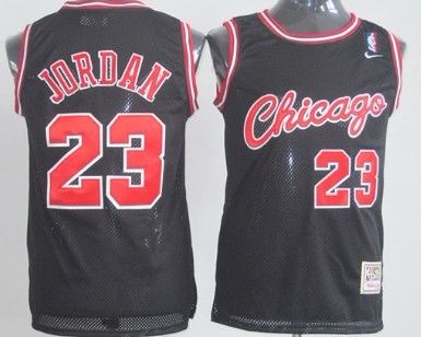 jcoshc Michael Jordan 1984-1985 Rookie Black Throwback Swingman Jersey