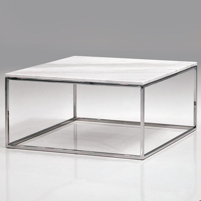 Buy Black Marble Square Coffee Table Gun Metal Base At: Kube Cocktail Table In White Marble