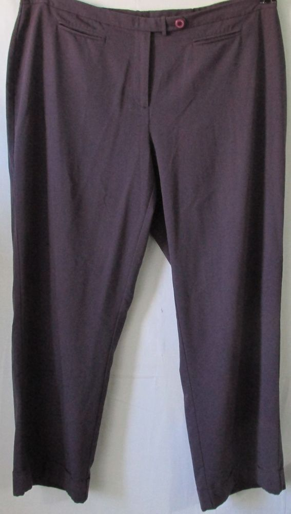 1fa15ab92a6 Avenue Plus Size Purple Dress Pants or Trusers Size 18  Avenue  DressPants