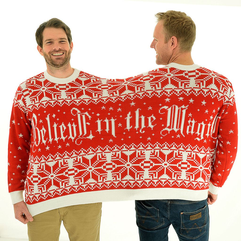 Believe In The Magic Bff Twosie 2 Person Christmas Sweater